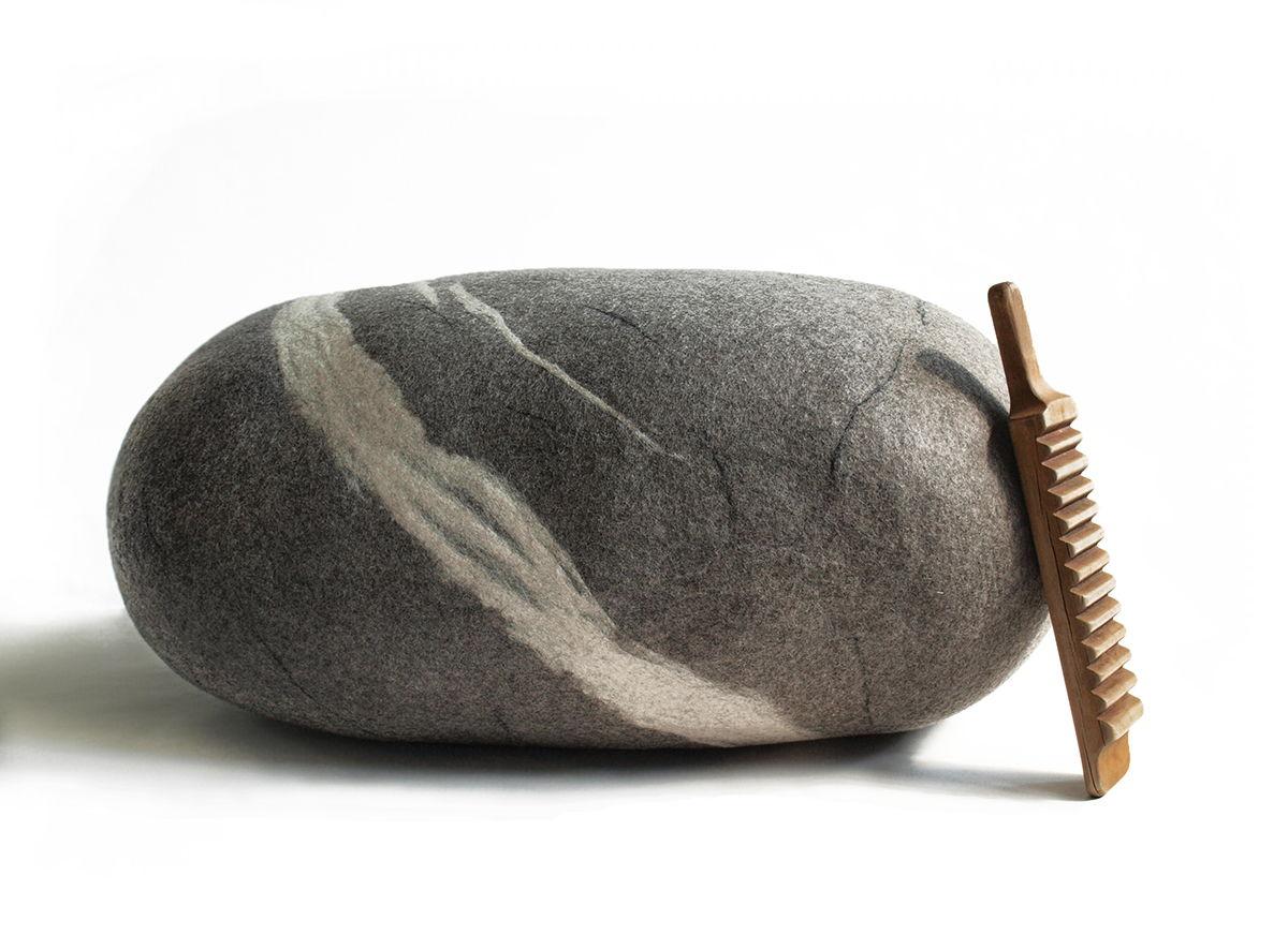 """ПУФ-КАМЕНЬ напольный. Модель """"Giant Rock"""" (100см)"""