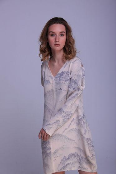 "Платье ""Зима"" из натурального шелка"