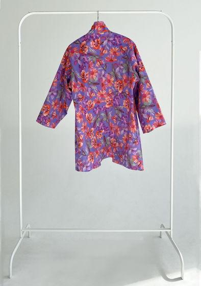"""Короткое кимоно из плотного хлопка """"Violet night"""""""