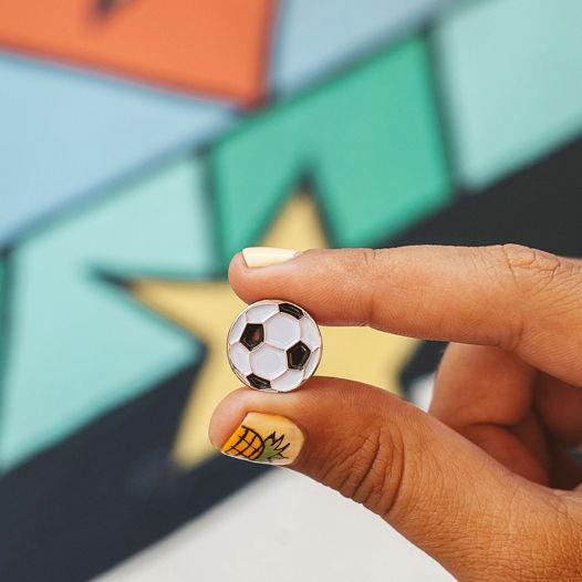 """Металлический значок """"мяч футбольный"""""""