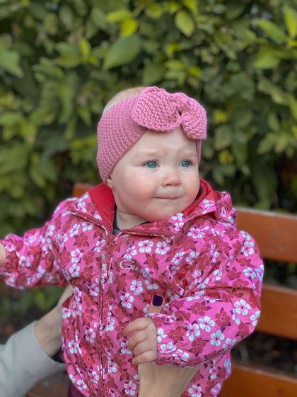 Вязаные повязки на голову для девочки (в ассортименте)