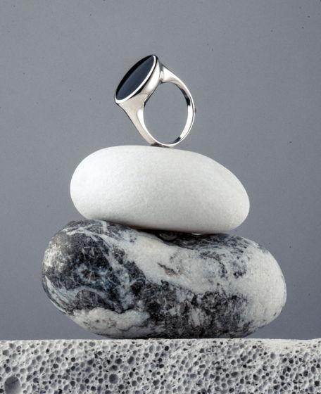 Серебряное кольцо Haze Black