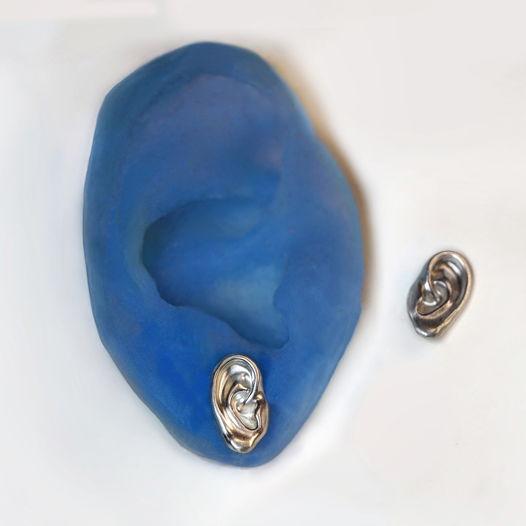 Серьги Серебряные Уши