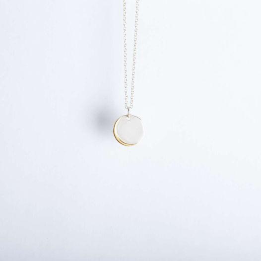 серебряная подвеска с луной Diana Little Moon