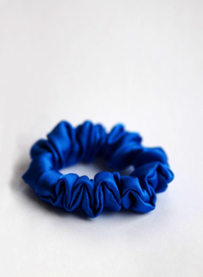 Голубые шёлковые резинки для волос 100% шёлк 3 шт Подарок на 8 марта