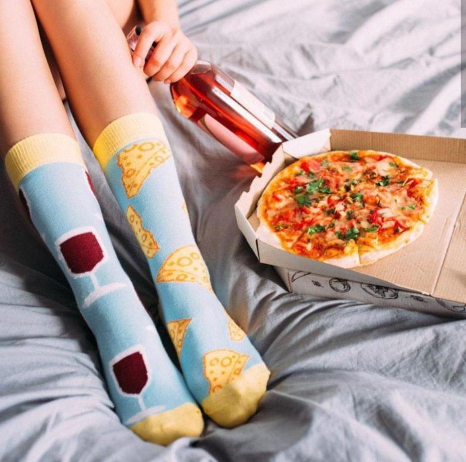 Разнопарные носки с вином и сыром Sammy Icon - Friday