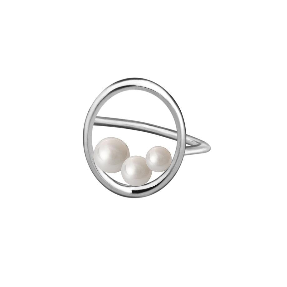 Кольцо Triple P с жемчугом Swarovski (маленькое и большое)