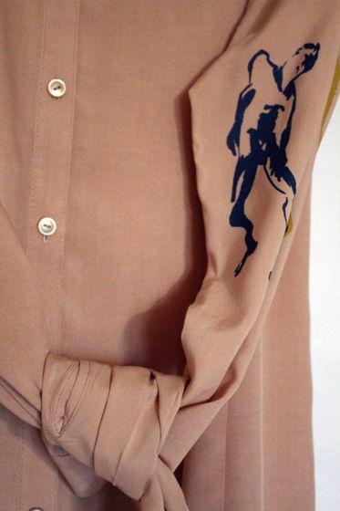 Женская блуза с танцовщицей буто