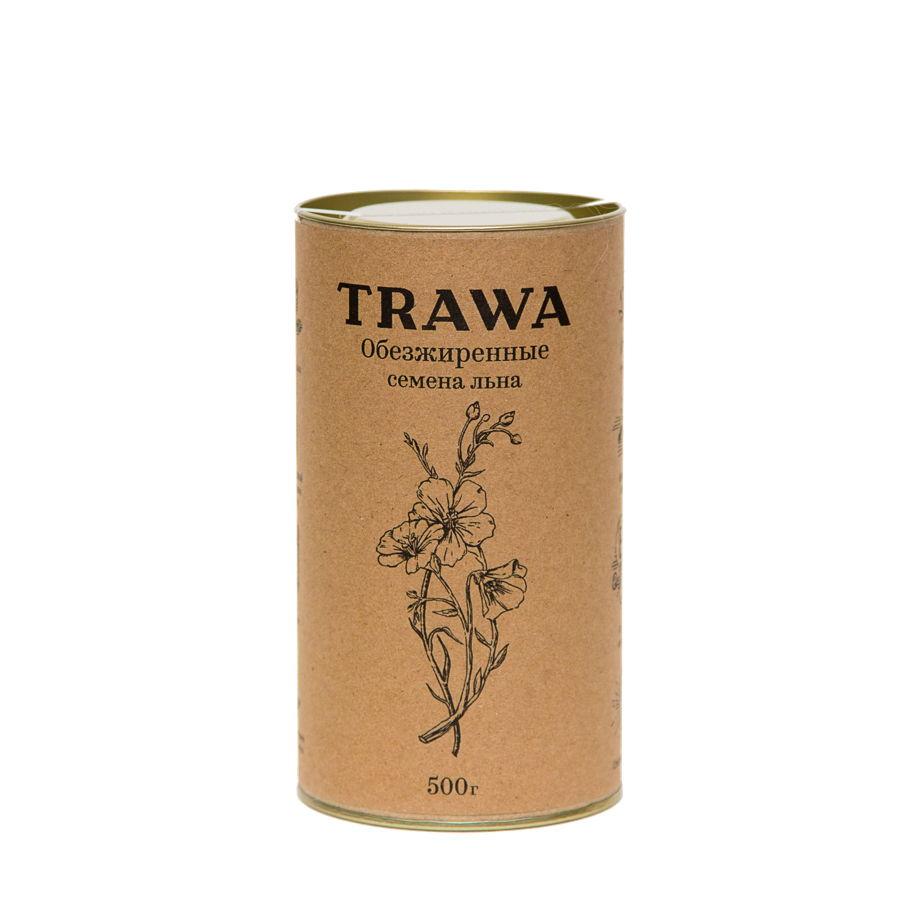 Обезжиренные семена льна TRAWA, 500 гр