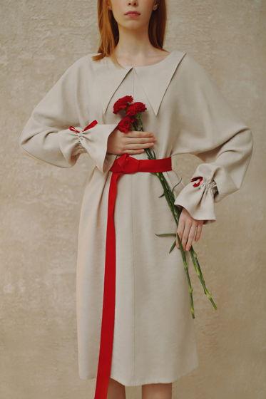 """Платье кимоно с удлиненным воротником """"Поздеев"""""""