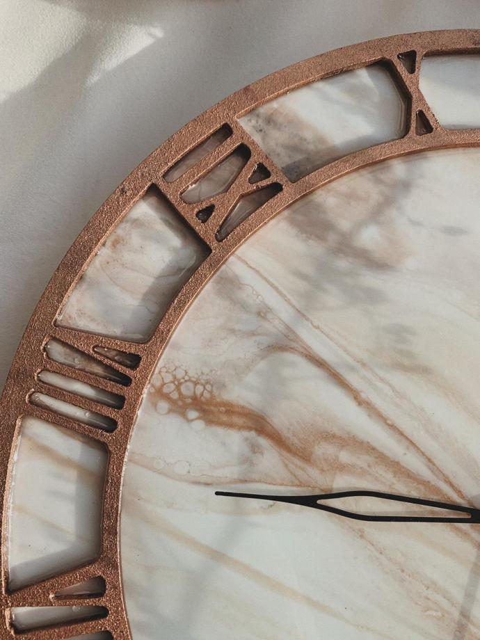 """Настенные часы """"Бронзовый мрамор"""""""