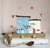 Домики дрифтвуд, статуэтка с деревянными домиками