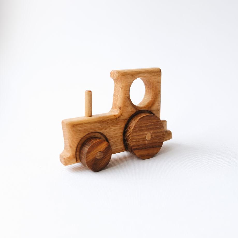 Деревянная игрушка Трактор