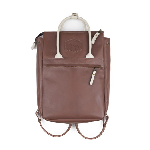 Кожаный рюкзак-сумка Urban Pack Chocolate/Cream