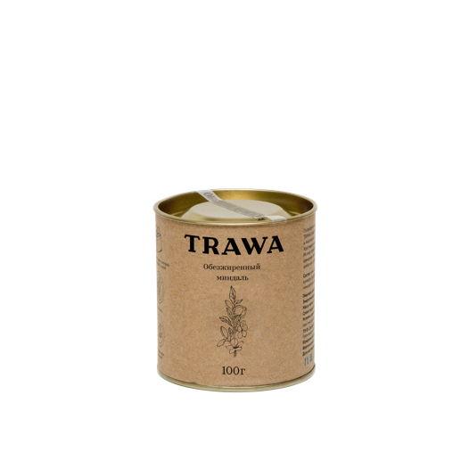 Обезжиренный миндаль TRAWA, 100 гр