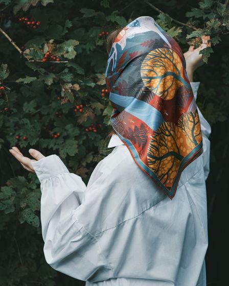 Платок полиэстровый «Лесные сказки»