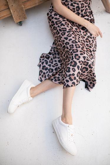 Юбка на талии, принт леопард