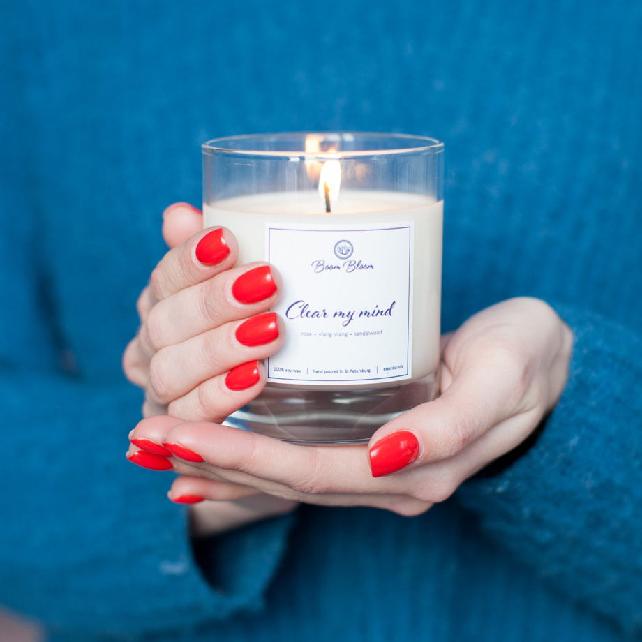 """Набор из свечей  """"I LOVE CANDLES"""" (Santa in town, Cheer me up, Clear my mind)"""