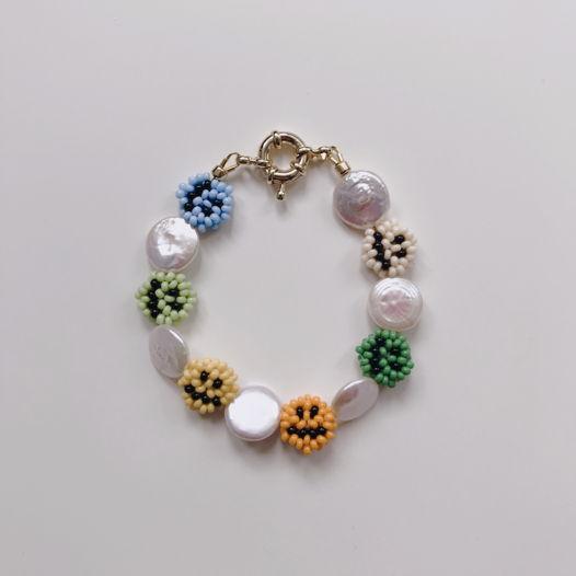 Браслет из бисера и жемчуга/ Horovod bracelet
