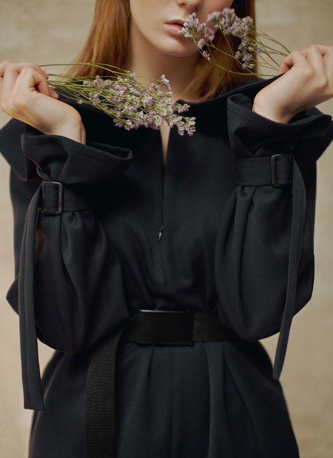 Платье плащ свободного силуэта