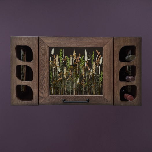"""Подвесной винный ящик """"Vinishko Sensei"""" из массива ясеня на 6 бутылок"""