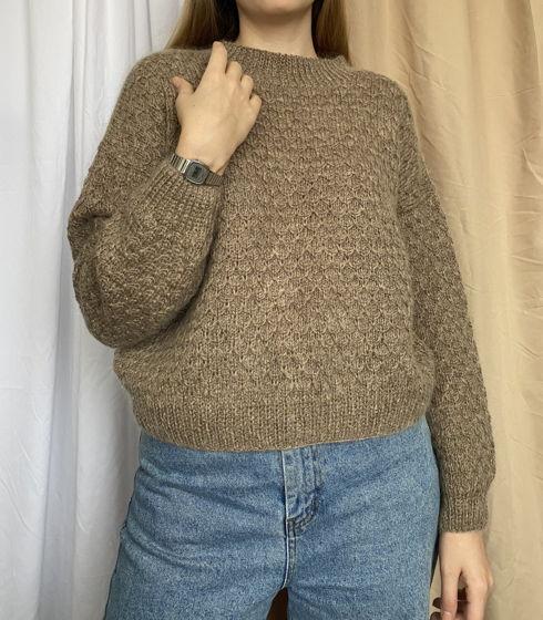 Кашемировый свитер цвета капучино