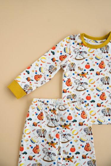 """Детская пижама с авторским принтом """"Магазин игрушек"""""""