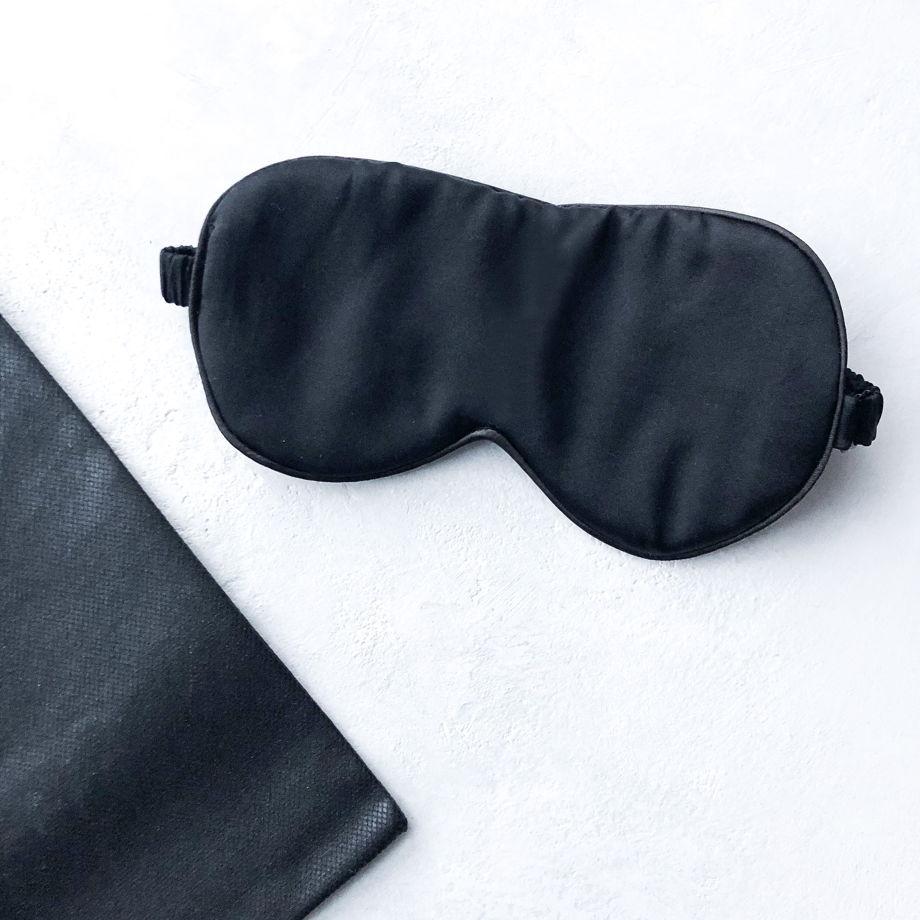 Маска для сна • 100% шёлк Mulberry • black