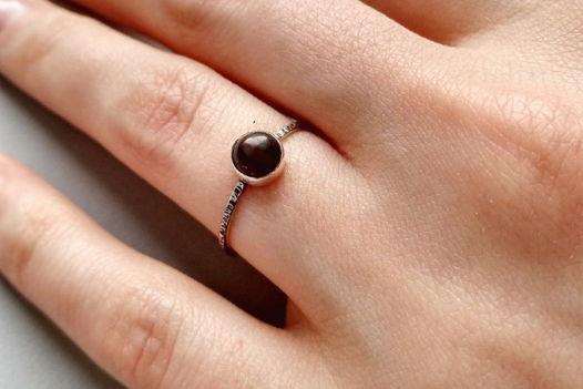 """Кольцо с тигровым глазом """"Молотый кофе"""", серебро, размер 16"""