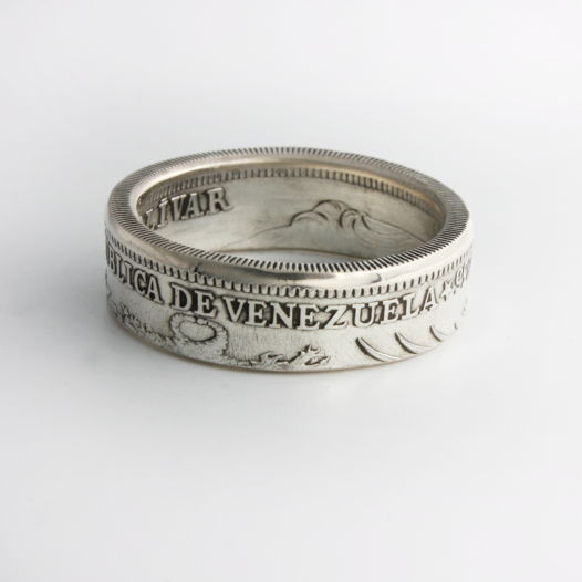 Кольцо из монеты - Венесуэла 1 боливар