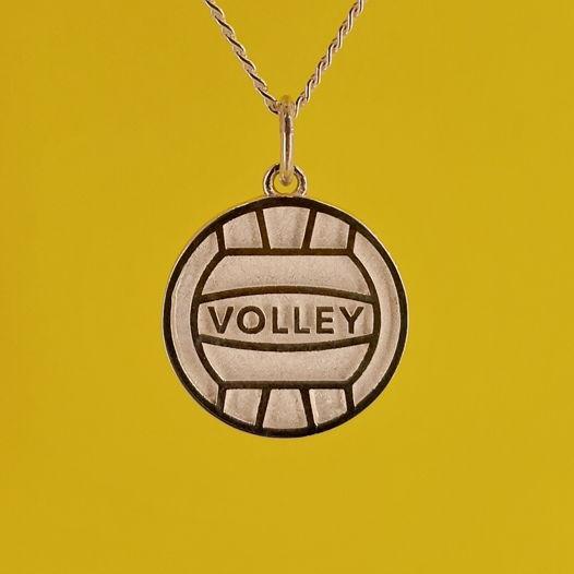 Серебряная подвеска Мяч для волейболиста