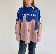 Рубашка-свитшот Adidas с фигурным краем (upcycle)