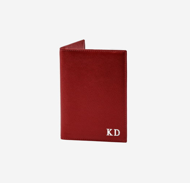 Обложка для паспорта красного цвета с персонализацией