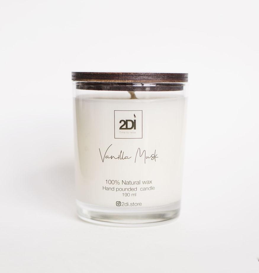 Ароматическая свеча 190 мл,Vanilla Musk, Ванильный мускус