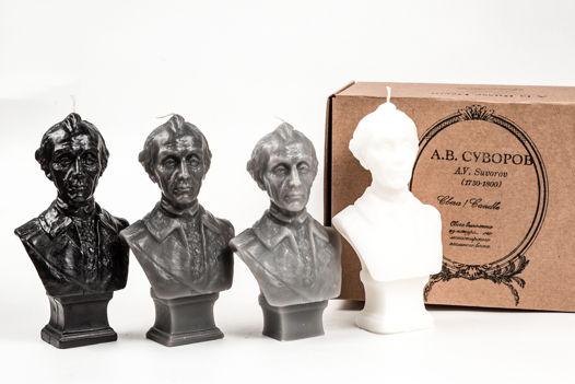 Кабинетная скульптура-свеча Александр Суворов в 5 цветовых вариантах