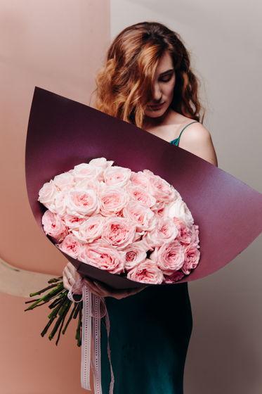 """Монобукет из ароматных роз сорта """"Пинк Охара"""""""