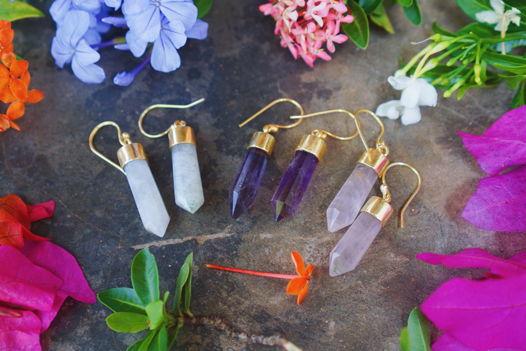 Серьги-кристаллы в позолоте