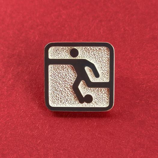 Серебряный значок Футбол Олимпиада 80