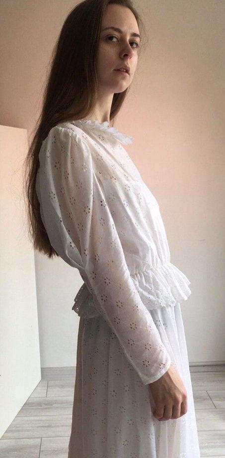 Винтажное свадебное платье середина XX века