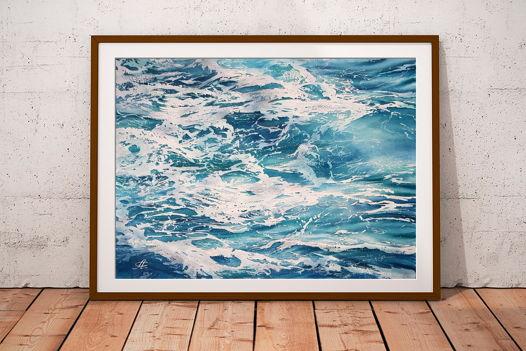 "Акварельная картина ""Душа океана 3"" (38 х 28 см)"