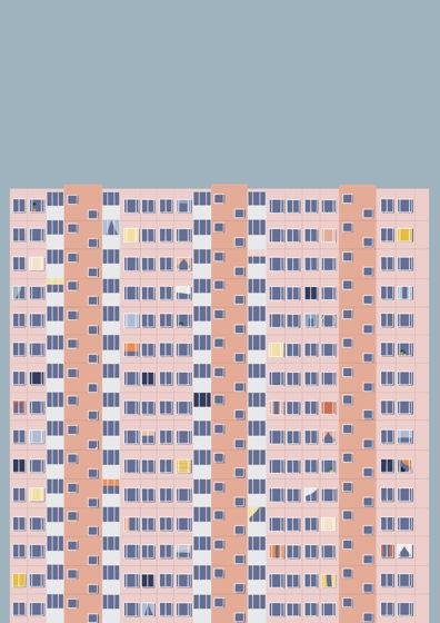 """Постер с авторской иллюстрацией """"Панелька П-30"""" А3"""