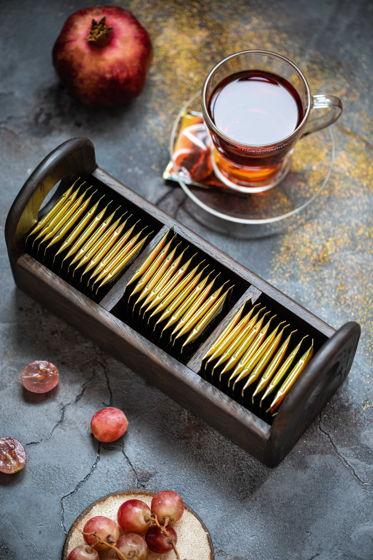 Подставка для чая с двумя ручками темная