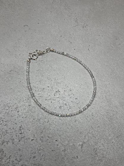 Браслет из лабрадора и серебра 925