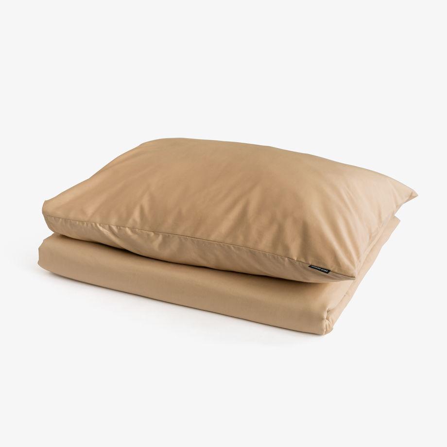 Бежевое постельное белье Спок