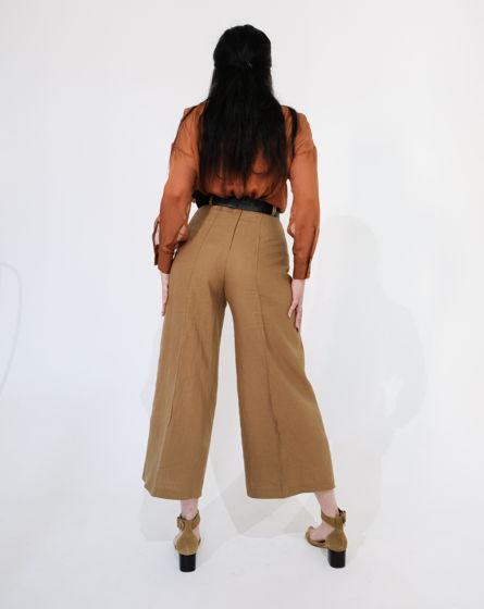Льняные брюки кюлоты