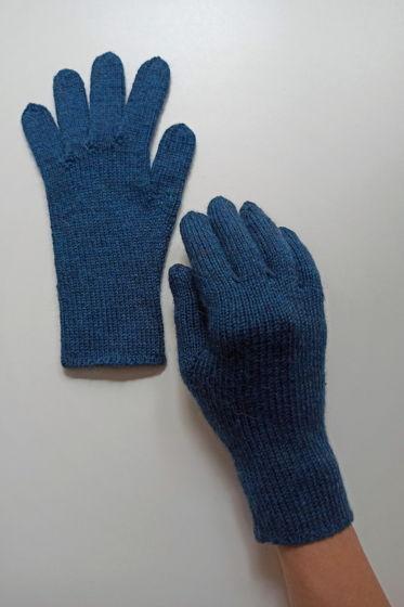 Полуночно-синие перчатки ручной работы