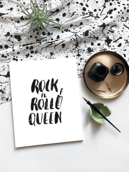 """Каллиграфия """"Rock'nRoll  Queen"""" (ручная работа)"""