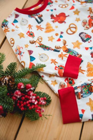 """Детская пижама с авторским принтом """"Новогодняя ярмарка"""""""