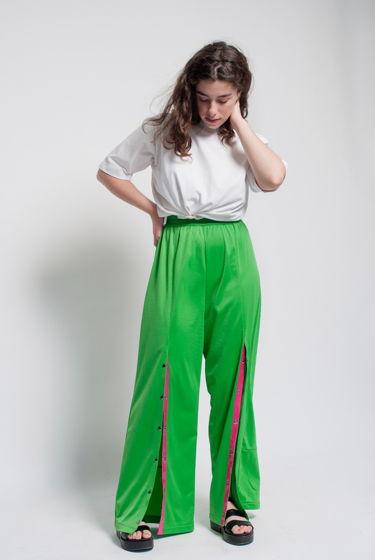 """Зеленый брюки """"это любовь"""" из полиэфира"""