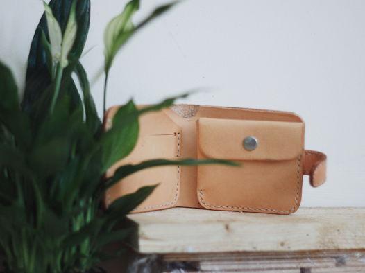Кожаный бумажник Classix Natural